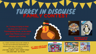 Help the turkey hide and you could win a prize!